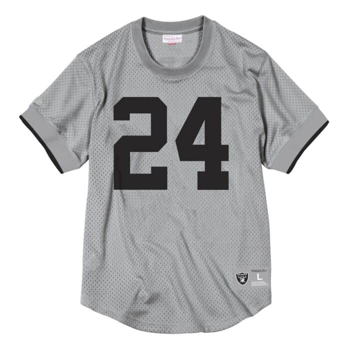 the latest 6b8aa df667 Name & Number Mesh Crew Neck Los Angeles Raiders Charles ...