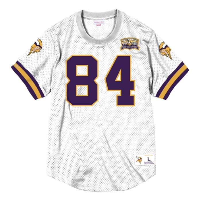 watch 03e3e e8293 Name & Number Mesh Crew Neck Minnesota Vikings Randy Moss