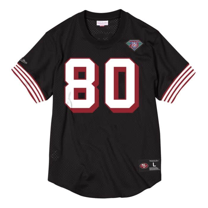 finest selection 3cb24 ad3f9 Name & Number Mesh Crew Neck San Francisco 49ers Jerry Rice ...
