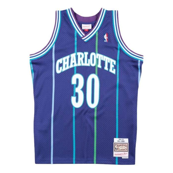 online retailer 46c16 88fd0 Swingman Jersey Charlotte Hornets Alternate 1994-95 Dell ...