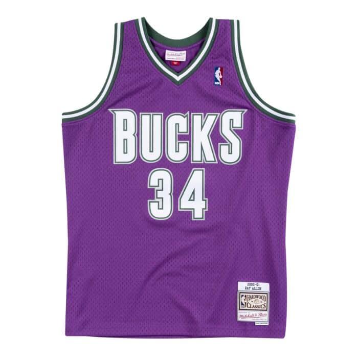 newest 4c159 404ad Swingman Jersey Milwaukee Bucks 2000-01 Ray Allen