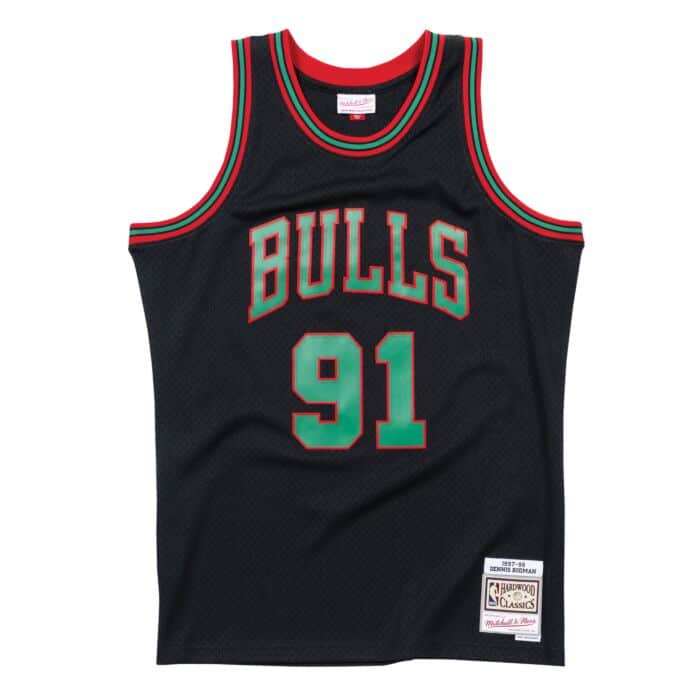 Chicago Bulls Christmas Jersey.Christmas Swingman Jersey Chicago Bulls 1997 98 Dennis