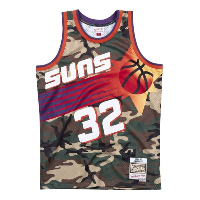 on sale db702 702c1 Woodland Camo Swingman Jersey Phoenix Suns 1996-97 Jason ...