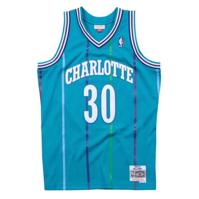 quality design fe21f f1cde Swingman Jersey Charlotte Hornets Road 1992-93 Dell Curry ...