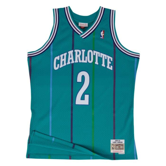 new product cea3e 67779 Swingman Jersey Charlotte Hornets 1992-93 Larry Johnson
