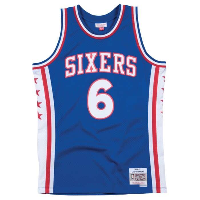 brand new 7d658 970e0 Swingman Jersey Philadelphia 76ers 1976-77 Julius Erving ...