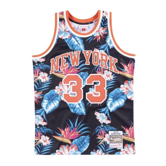 sale retailer 88b7d 9e140 Floral Swingman Jersey New York Knicks 1991-92 Patrick Ewing ...