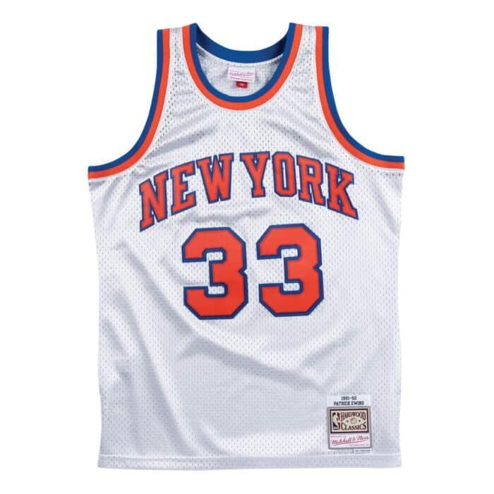 separation shoes 693e0 cf7eb Platinum Swingman Jersey New York Knicks 1991-92 Patrick ...