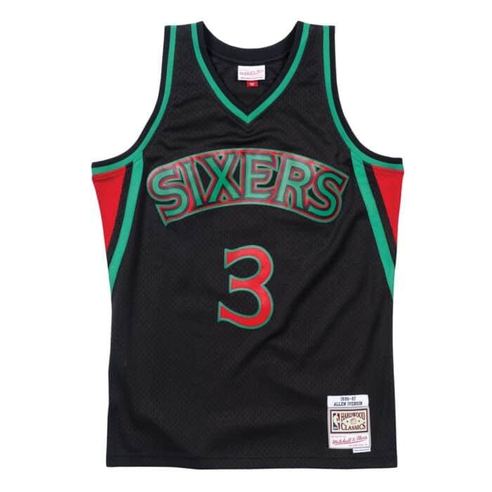 hot sales df4ef 49b86 Christmas Swingman Jersey Philadelphia 76ers 1996-97 Allen ...