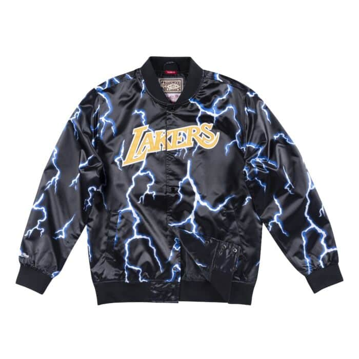 low priced 2ade3 d4f6c Lightning Satin Jacket Los Angeles Lakers