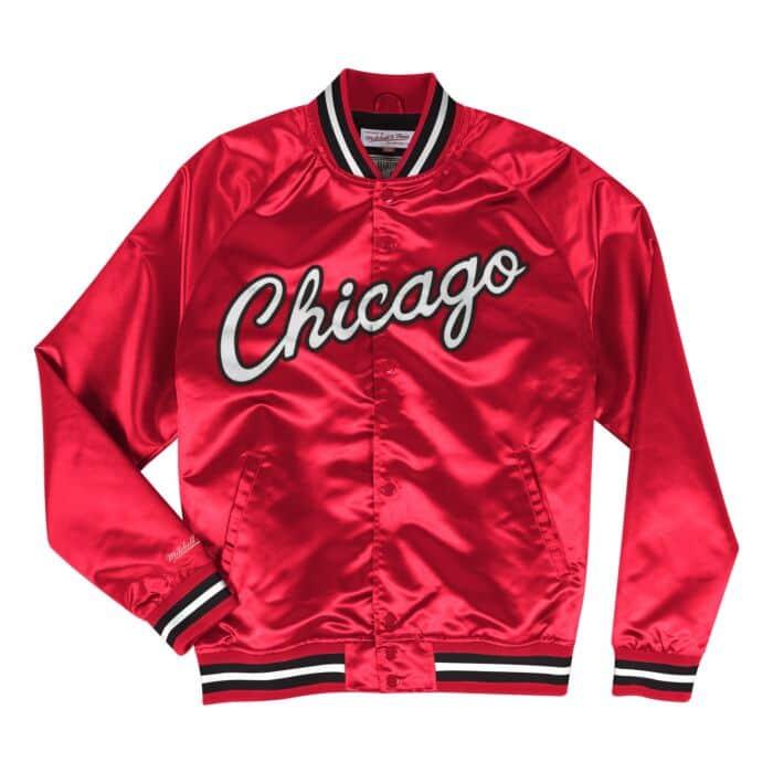 huge discount 5ba7f f375d Lightweight Satin Jacket Chicago Bulls