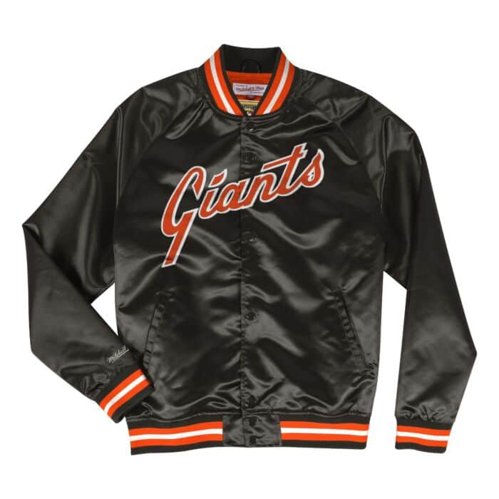 brand new 0ba8a 7a6d1 Lightweight Satin Jacket San Francisco Giants