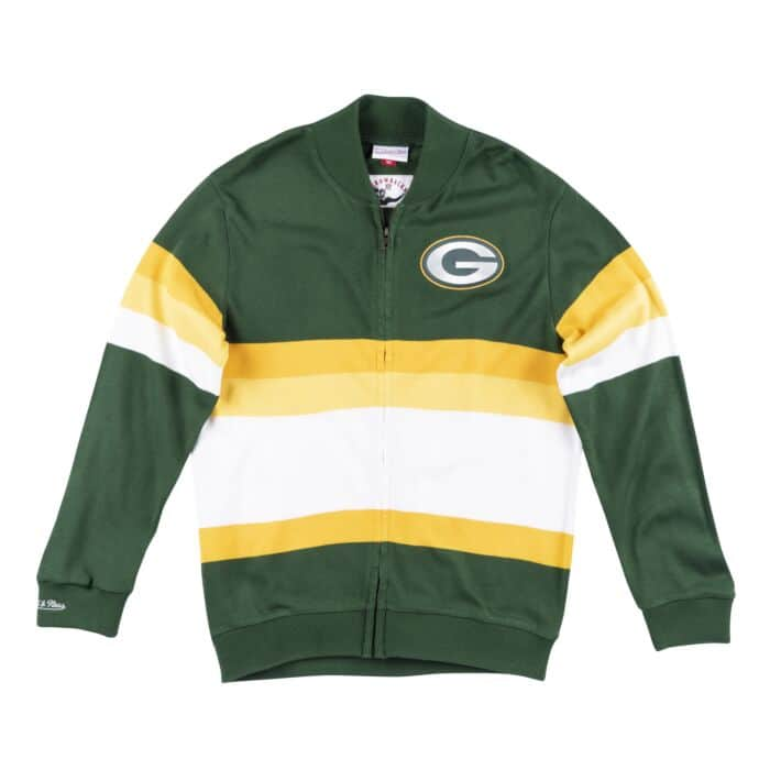 best service 31b7f 0be44 Front Stripe Sweater Green Bay Packers