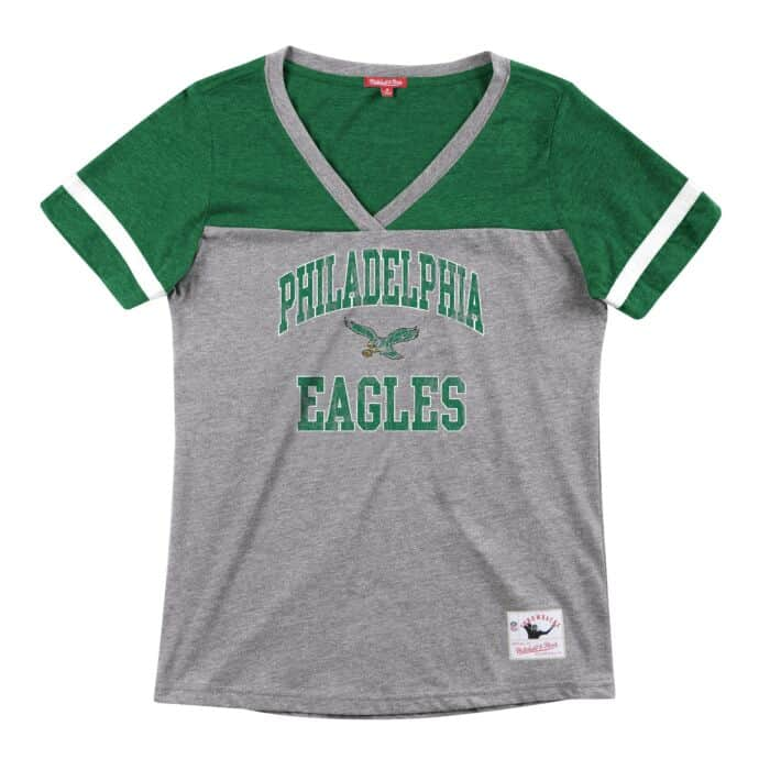 online store 02606 4daf5 Women's Team Captain V-Neck Tee Philadelphia Eagles